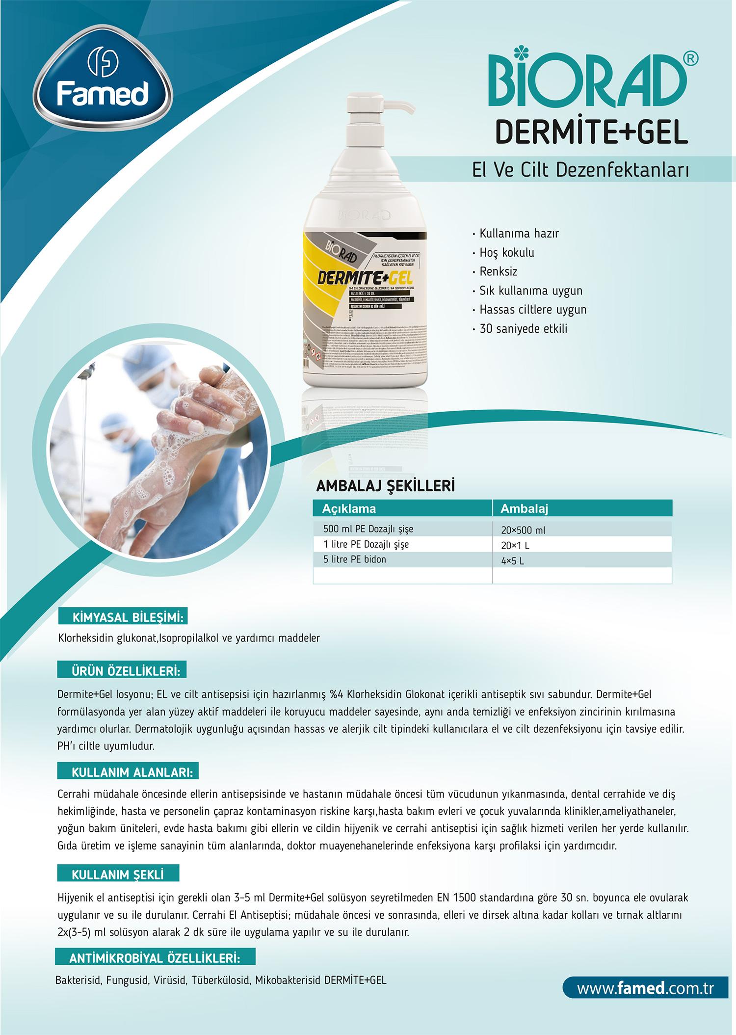 El ve Cilt Dezenfektan Dermite Jel