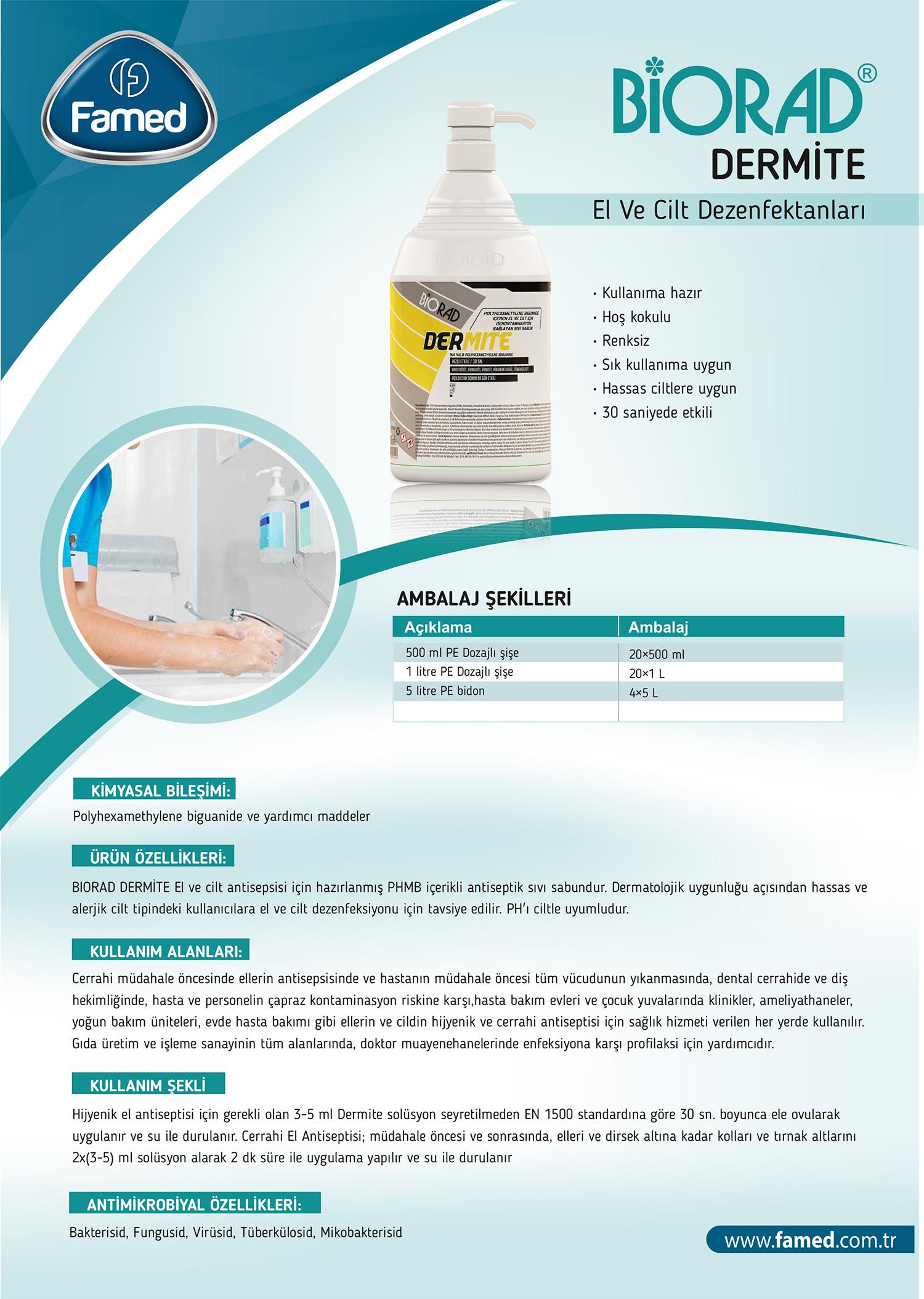 El ve Cilt Dezenfektan Dermite